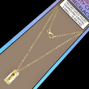 Island Sunset Artisan Dainty Necklace 14KT/20